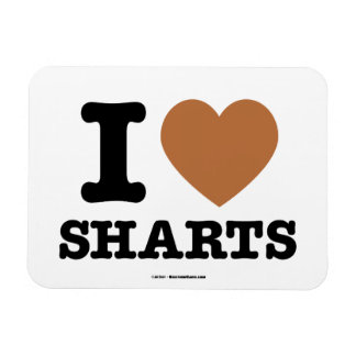 I Heart Sharts Funny Icon Graphic Vinyl Magnets