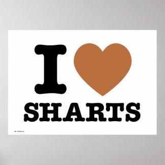 I Heart Sharts Funny Poster