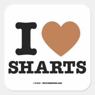 I Heart Sharts Square Sticker