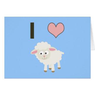 I heart Sheep Stationery Note Card