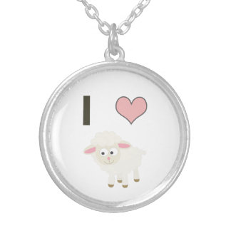 I heart Sheep Silver Plated Necklace