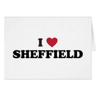 I Heart Sheffield Great Britain Card