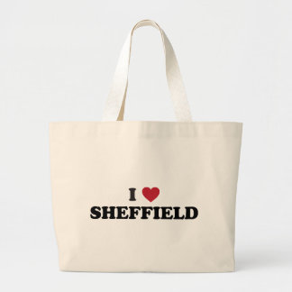 I Heart Sheffield Great Britain Large Tote Bag