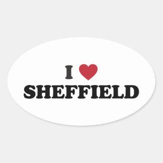 I Heart Sheffield Great Britain Oval Sticker