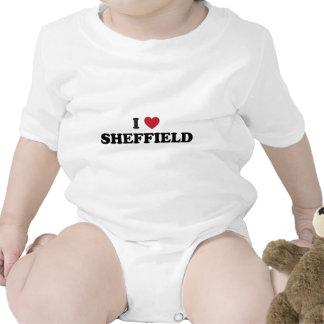 I Heart Sheffield Great Britain Baby Bodysuits