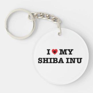 I Heart Shiba Inu Acrylic Keychain
