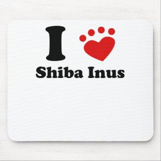 I Heart Shiba Inus Mousepads
