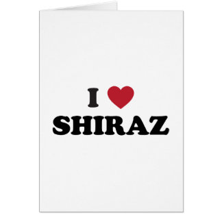 I Heart Shiraz Card
