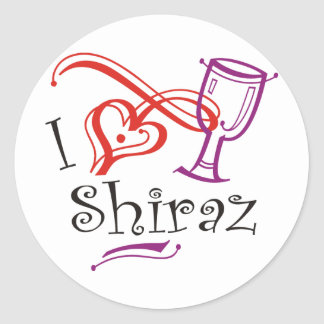 I Heart Shiraz Classic Round Sticker
