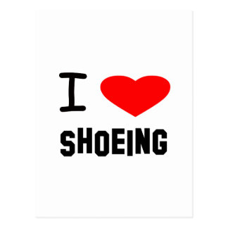 I Heart shoeing Post Cards