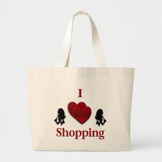 I Heart Shopping Canvas Bag