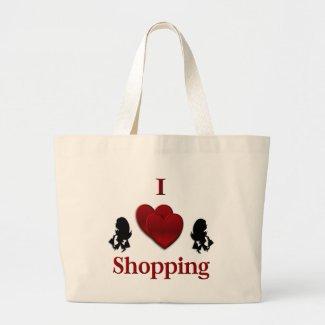 I Heart Shopping Canvas Bag