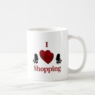 I Heart Shopping Coffee Mugs