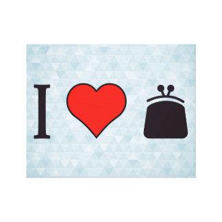 I Heart Shopping For A Women Purse Canvas Print