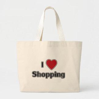 I Heart Shopping Large Tote Bag