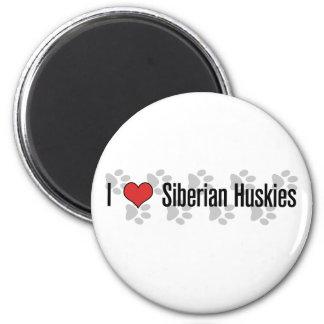 I (heart) Siberian Huskies Magnet