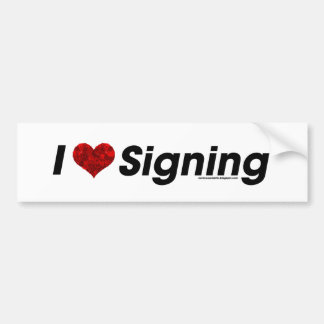 I heart Signing with a Gear Heart! Car Bumper Sticker