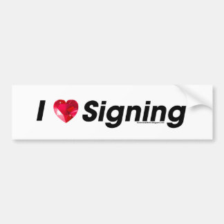 I Heart Signing with a Gem! Bumper Sticker