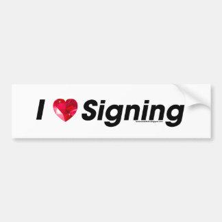 I Heart Signing with a Gem! Car Bumper Sticker