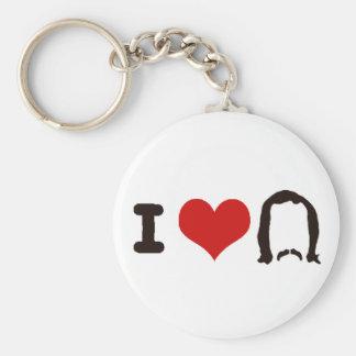 I Heart Silhouette Keychain
