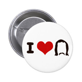 I Heart Silhouette Pinback Button