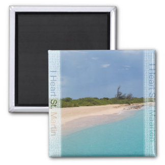I Heart Sint Maarten - St. Martin Beach Scene Magnet