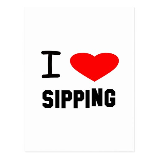I Heart sipping Postcard
