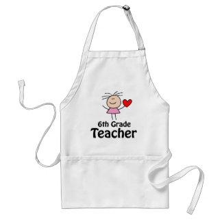 I Heart Sixth Grade Teacher Adult Apron