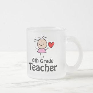 I Heart Sixth Grade Teacher Coffee Mug