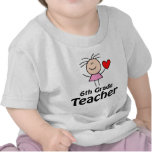 I Heart Sixth Grade Teacher Tshirts