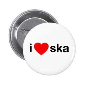 I Heart Ska Pinback Buttons