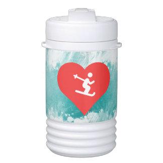 I Heart Skiing Icon Igloo Beverage Dispenser