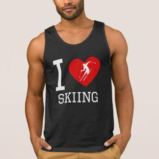 I Heart Skiing Tank Top