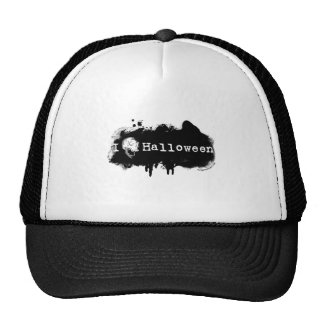 I (heart) skull Halloween Trucker Hat