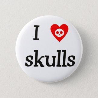 I heart Skulls Button