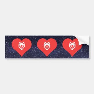 I Heart Sled Dogs Vector Car Bumper Sticker