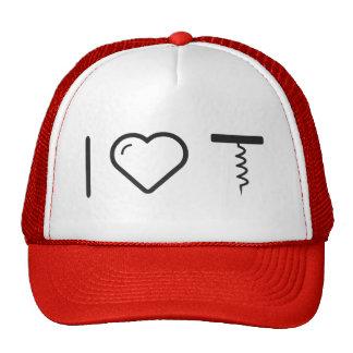 I Heart Slim Corkscrews Trucker Hat