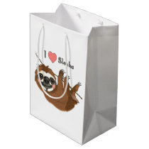 I Heart Sloths Baby Animal Medium Gift Bag