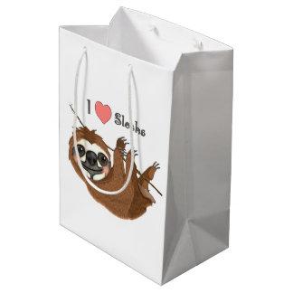 I Heart Sloths Baby Animal Medium Gift Bag