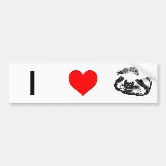 I (Heart Sloths) Bumper Sticker