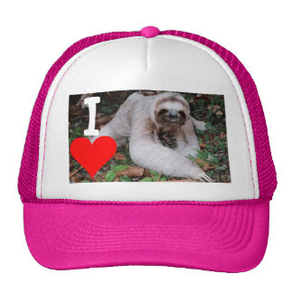 I heart sloths trucker hat