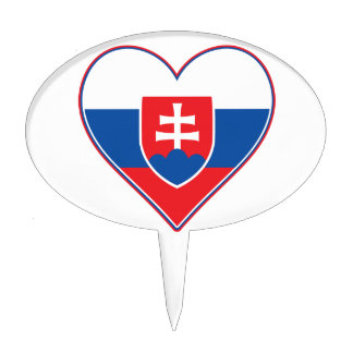I Heart Slovakia Cake Topper