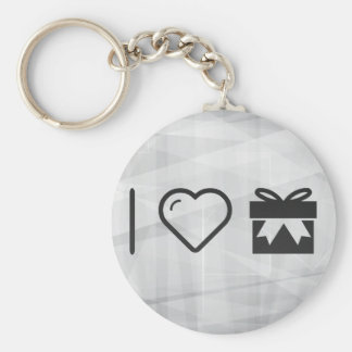 I Heart Small Giftboxes Basic Round Button Keychain
