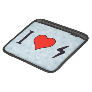 I Heart Small Thunderbolts Sleeves For iPads