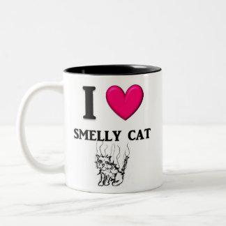 "I ""Heart"" Smelly Cat Two-Tone Coffee Mug"
