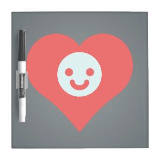 I Heart smiling Vector Dry-Erase Board