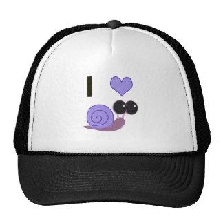I Heart Snails - periwinkle Hats