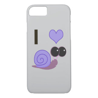 I Heart Snails - periwinkle iPhone 8/7 Case