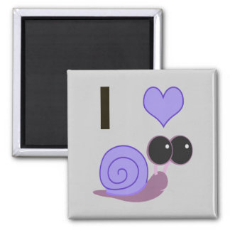 I Heart Snails - periwinkle Magnet