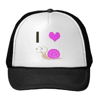 I heart Snails - Pink Mesh Hat